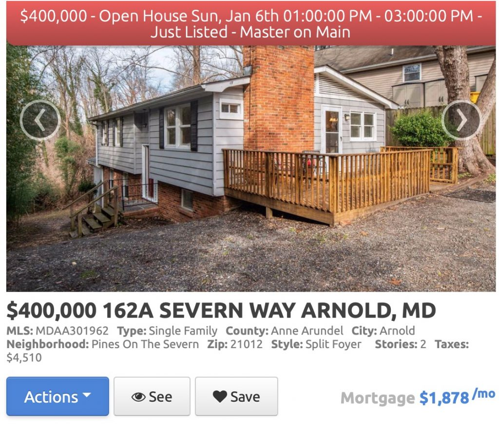 Home for sale in Pines on the Severn in Arnold, Maryland